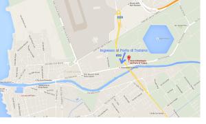 Mappa del porto di Traiano